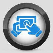 Multimedia player icon — Stock Vector
