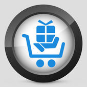 Cart store icon — Stock Vector