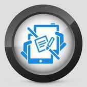 Notepad web communication — Stock Vector