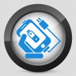 Vector de stock : Phone charge icon