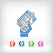 Money document icon — Stock Vector