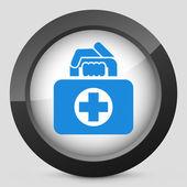 Medical bag icon — Stock Vector