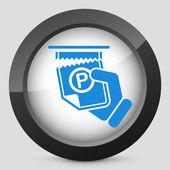 парковочный билет — Cтоковый вектор