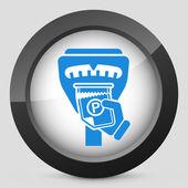 Parking meter ticket — Stock Vector