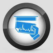 Cardiac test document — Stock Vector
