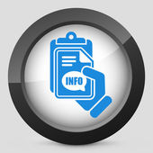 Info document icon — Stock Vector