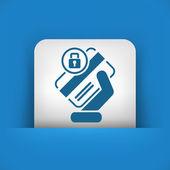 Locked credit card — Stock Vector
