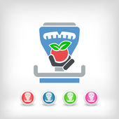 Fruiterer scale icon — Stock Vector