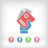 Medical records icon — Stock Vector