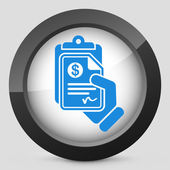 Money document icon — Vettoriale Stock