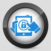 Tablet password — Stock Vector