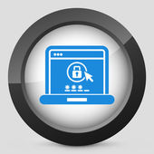 Computer password — Stock Vector