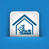 Hospitalization icon — Stock Vector