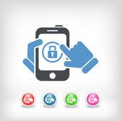 Smartphone password — Stock Vector