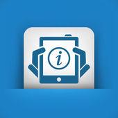 Info mobile device — Stock Vector