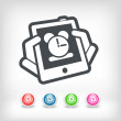 Stock Vector: Tablet clock icon