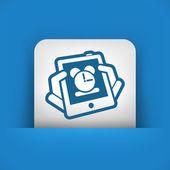 ícone de relógio tablet — Vetorial Stock