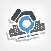 City map icon — Stock Vector