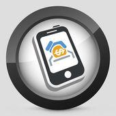 Icône Banque mobile — Vecteur