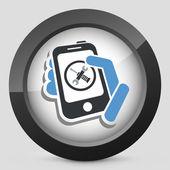 Smartphone setting icon — Stock Vector
