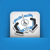 Disabled people connection — Stock Vector