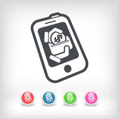 Mobile bank icon — Stock Vector