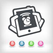 Tablet clock icon — Stock Vector