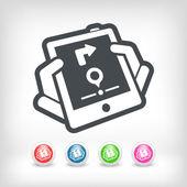 Mobile navigation system — Stock Vector