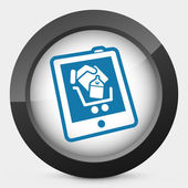 Shopping on tablet icon — Stock Vector