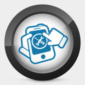 Smartphone setting icon — Stock Vector