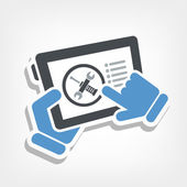 Touchscreen device setting — Stock Vector