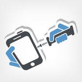 Smartphone repair — Stock Vector