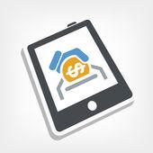 Money on device — Stock Vector