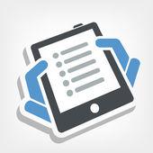 Icona elenco Tablet — Vettoriale Stock