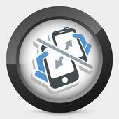 Smartphone transfer — Stock Vector