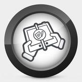 Caixa de correio no dispositivo — Vetor de Stock