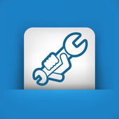 Wrench icon — Stock Vector