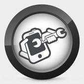 Smartphone assistance — Stok Vektör