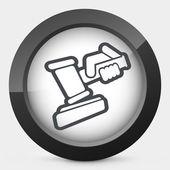 Hammer judge — Cтоковый вектор