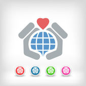 World love icon — Stock Vector
