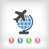 Airplane travel icon — Stock Vector