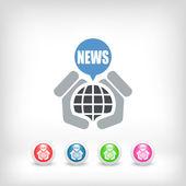 Icono de noticias — Vector de stock