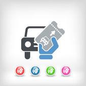 Card car icon — Stockvektor