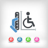 Disabled access area — Stock Vector