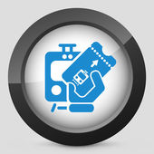 Train ticket icon — Stock Vector