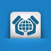 Word defense icon — Stock Vector