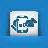 Smartphone lagring ikonen — Stockvektor