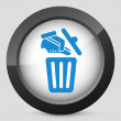 Shoes on trash bin — Vector de stock