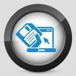 Saving data icon — Stock Vector