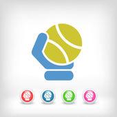 Tenis piłka ikona — Wektor stockowy